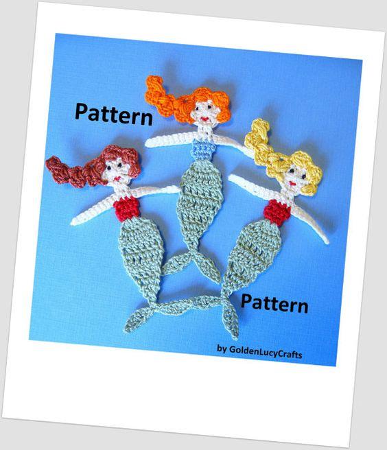 Mermaid Crochet PATTERN PDF by GoldenLucyCrafts on Etsy