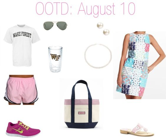 """""""OOTD: August 10"""" by thepinkandgreenprep on Polyvore 