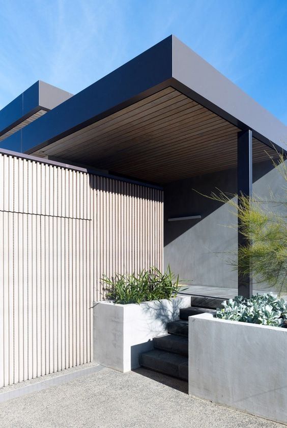 Grey timber with black contrast Bellarine Peninsula House | Inarc Architects