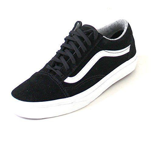 Vans Damen Sneaker Old Skool (Varsity Suede) Black/Blanc De Blanc 36.5 - http://on-line-kaufen.de/vans/36-5-eu-vans-unisex-erwachsene-old-skool-sneakers-c