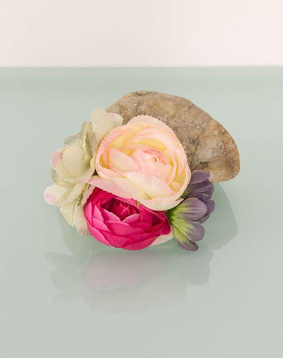 Blumenclip klein weiße Rose - Bild vergrößern