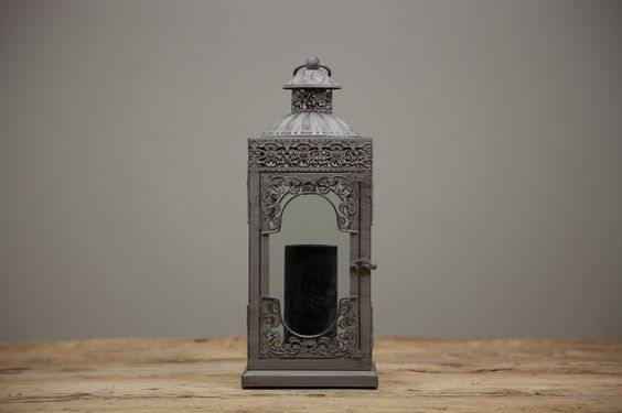 Lanterna Quadrada Cinza | A Loja do Gato Preto | #alojadogatopreto | #shoponline