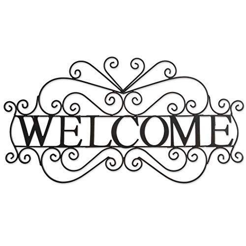 Besti Metal Welcome Sign Large Ornate Bronze Plaque Front Door Porch Patio And Entryway Decor Indoor And Outdoor Metal Welcome Sign Entryway Decor Welcome Sign