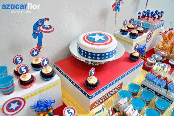 fiesta de super heroes =)