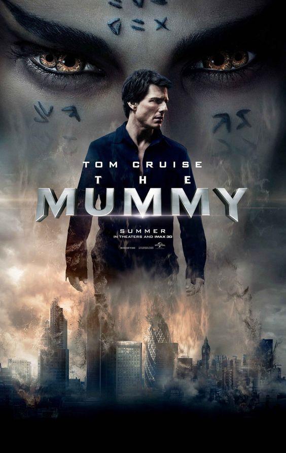 La momia (2017), película americana dirigida por Alex Kurtzman y escrita por Jon Spaihts y Christopher McQuarrie. Protagonizada por Tom Cruise, Sofia Boutella, Annabelle Wallis, Jake Johnson, Courtney B. Vance y Russell Crowe .
