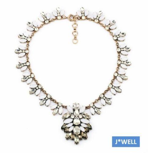2014 Fashion Crystal Snowflake Flower Drop Luxury Brooch Necklace