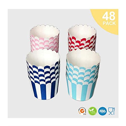 Amazon Com Caroll S Home Stripe Baking Cups Paper Cupcake Liners