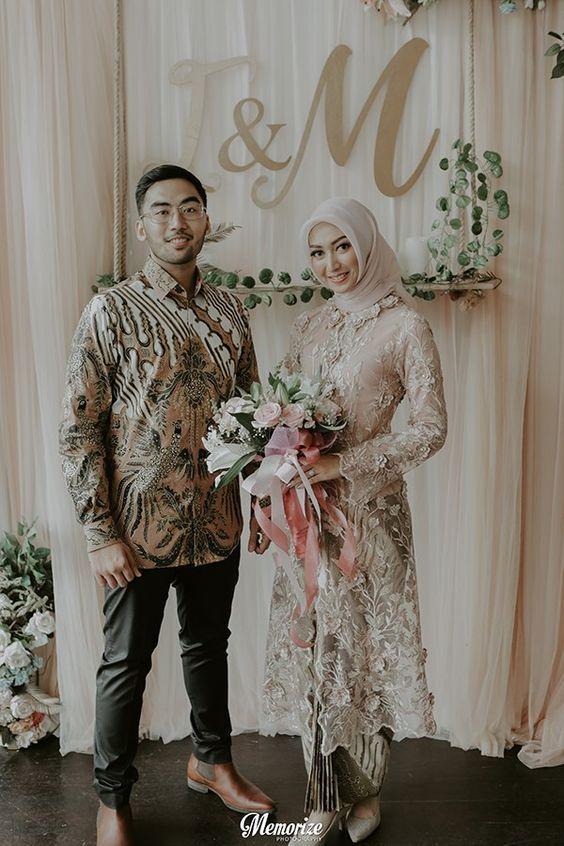 Baju Lamaran Couple Hijab