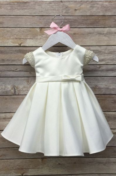 White Baby Dress Baptism Dress White christening by BabyGalore0