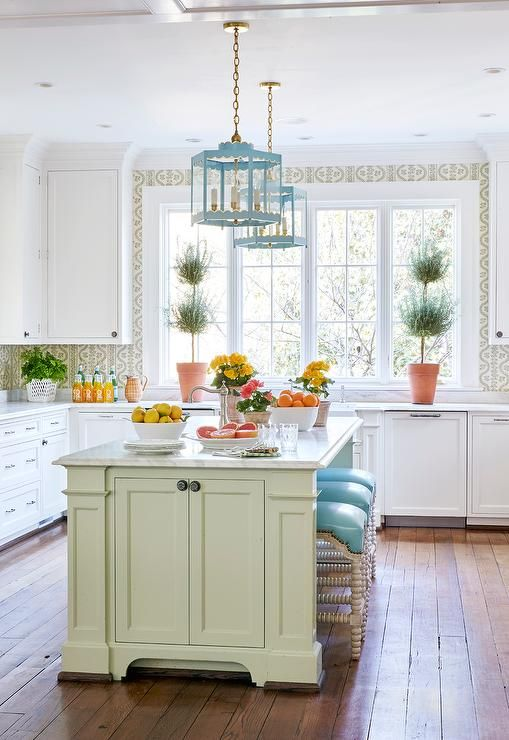 5 Ways To Add Color To Your Kitchen The Well Appointed House Blog Living The Well Appointed Life All White Kitchen Kitchen Design Traditional House