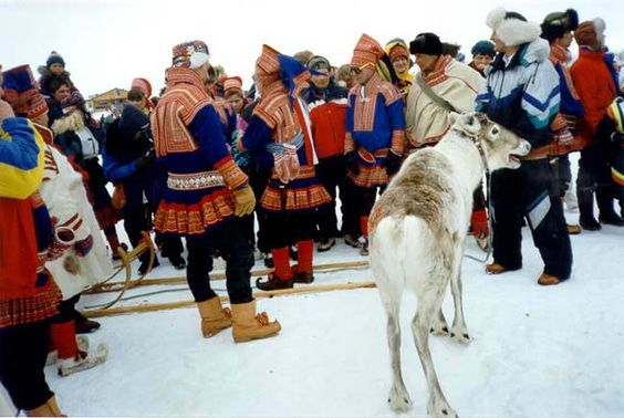 Sami people in Finnmark, Northern Norway