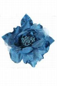 Broche fleur en soie. 11 cm x 11 cm.