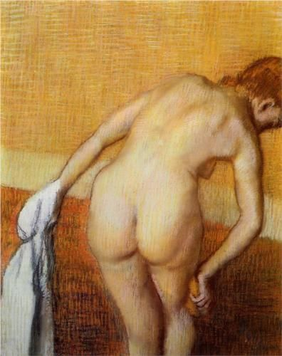 Woman Having a Bath - Edgar Degas
