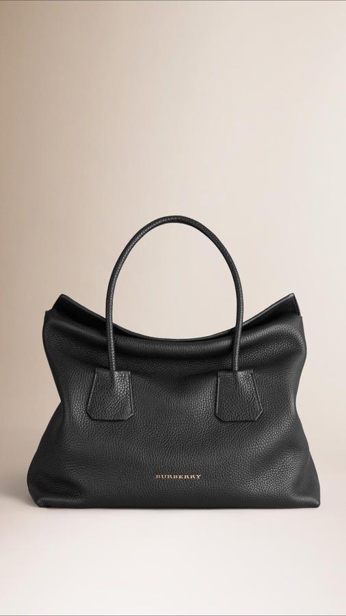 Burberry Medium Leather Tote Bag