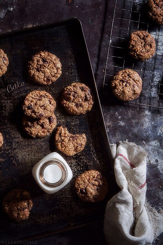 Sour Cherry and Chocolate Chip Oatmeal Cookies