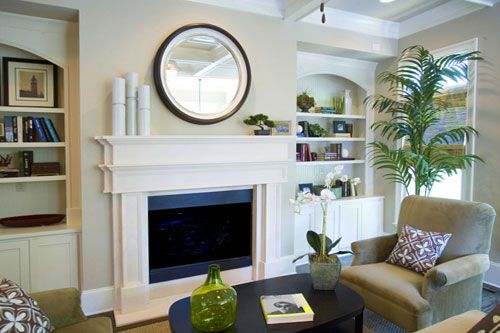 Innovative Where Are The Cabinetsbookcases On Either Side Of Fireplace From