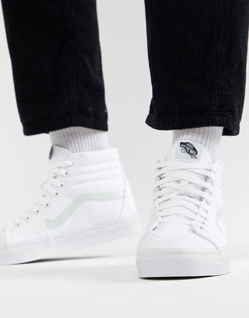 Vans | Vans Sk8-Hi Sneakers In White VD5IW00 | Sneakers, High top vans  outfit, Vans sk8