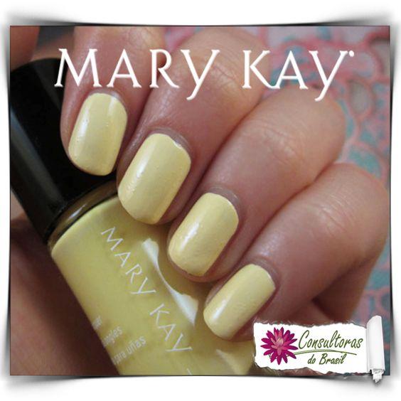 Esmalte Mary Kay Hello, Sunshine! Lemon Parfait - Um toque de cor fresca, tom pastel e um acabamento instantâneo de alto brilho!  Sua fórmula é de longa duração e proporciona cor uniforme de fácil aplicação.   #consultorasdobrasil #consultoramarykay #marykay #marykaybrasil #hellosunshine #praentrarnoclima #makeup #makeuplovers #amomk #mk #maquiagem