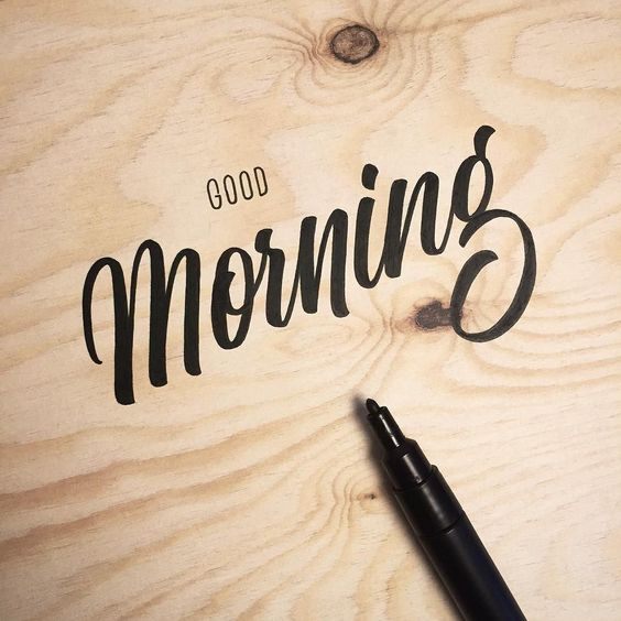 Good Morning everyone! #whichpendidyouuse #lettering by jonathanfaust