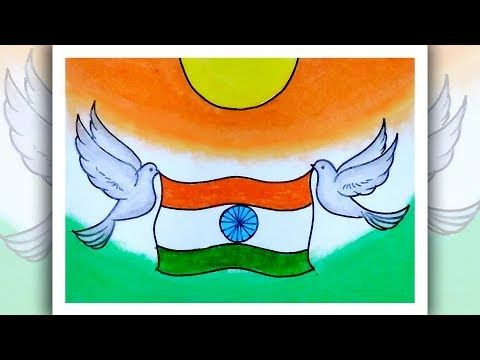 Easy Drawing For Beginners Independence Day Drawing Youtube In 2020 Independence Day Drawing Flag Drawing Easy Drawings