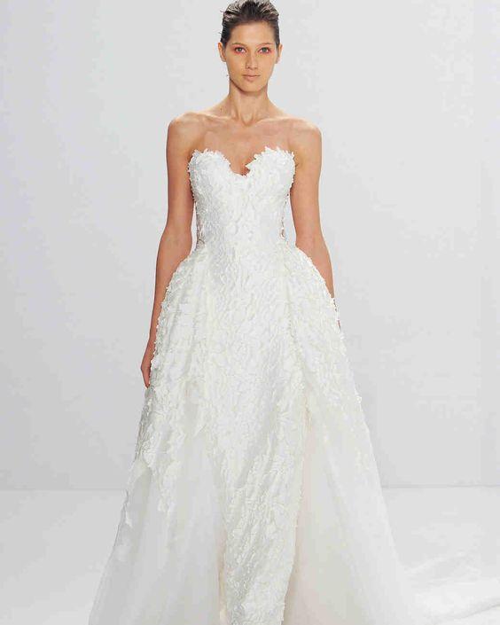 Mark Zunino for Kleinfeld Fall 2017 Wedding Dress Collection | Martha Stewart Weddings – Strapless ball gown wedding dress: