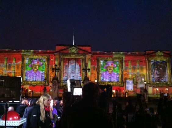 Face Britain as projected on Buckingham Palace, Web-in-Mind.com had involvement in the project