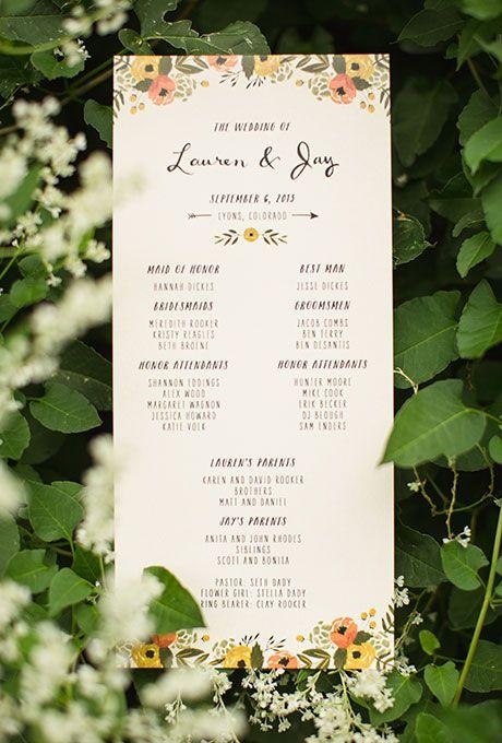 Wedding Ceremony Programs, Hand Type And Wedding On Pinterest