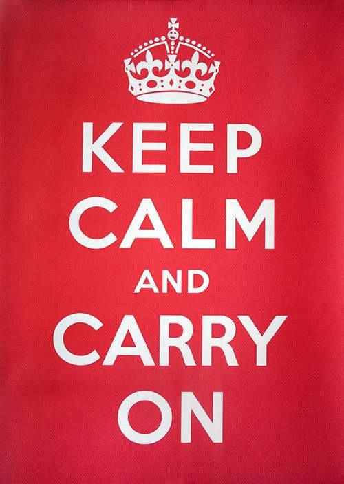 Don't be terrorized. #keepcalm