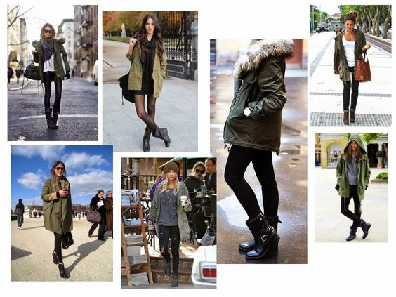 Inspired By: Street Style...Biker Boots and a Parka