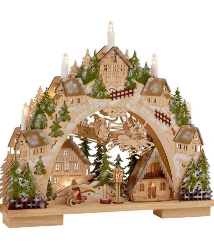 Wooden Christmas Village Light Christmas Arch Christmas Village Lights Sweden Christmas