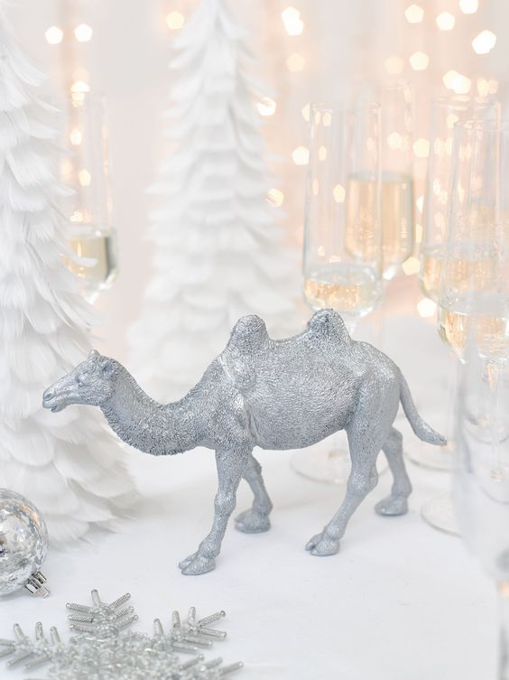 #christmasstyling #christmasdecs  http://www.talkingtables.co.uk/products/pps-camel-party-porcelain-silver-camel