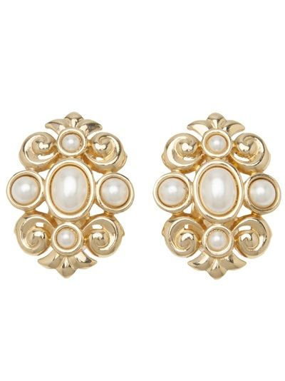 CHRISTIAN DIOR VINTAGE Pearl Baroque Earring