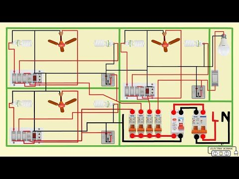 Complete Electrical House Wiring Diagram Youtube In 2020 House Wiring Home Electrical Wiring Electrical Wiring