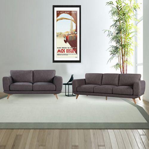 Modern Stylish Brown Alaska Sofa 3 2 Seater Sofa Grey Corner Sofa Leather Chaise Sofa