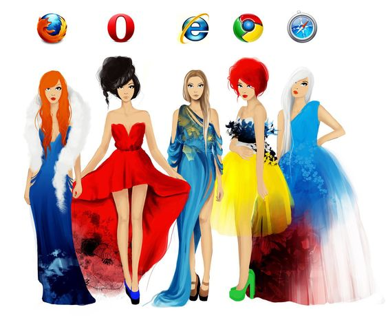 Computer browsers as women.