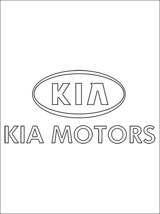 Coloring Pages Kia Logo Kia Logo Kia Coloring Pages