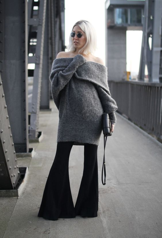 Off shoulder, Flared, Zara, Acne, Acne Studios, Stella McCartney, minimal, Design, London Retro, Look, lotd, ootd, Outfit, Streetstyle, Fall, Fashion, Blog, stryleTZ