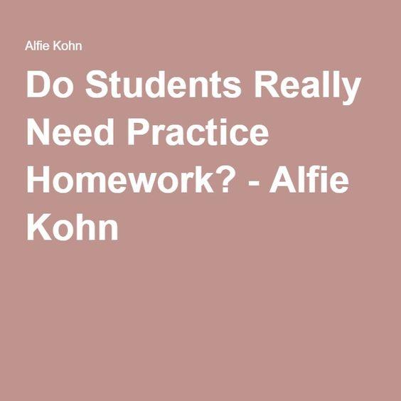 Do students really need homework
