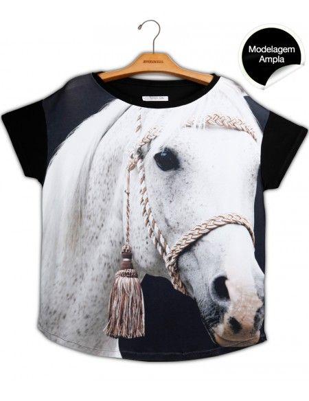 Blusa Premium Quadrada Cavalo Branco  www.usenatureza.com #UseNatureza #JeffersonKulig