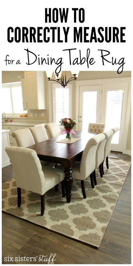 How To Correctly Measure For A Dining Room Rug Dining Table Rug