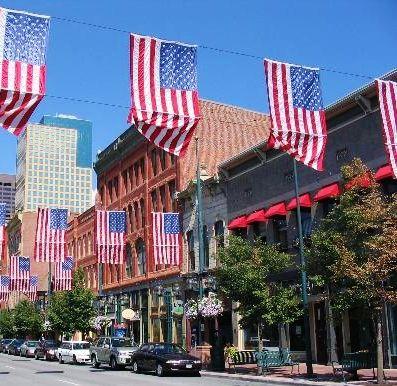 #Larimer Square-Denver  Shopping, food, drink  Larimer Square began Denver's downtown  renaissance
