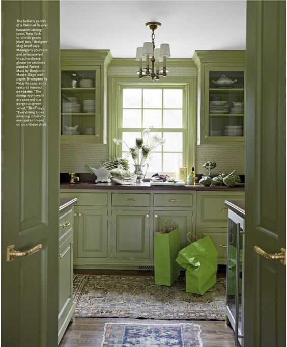 Green Kitchen Cabinets Images: Paint For Kitchen, Green And Colors On Pinterest