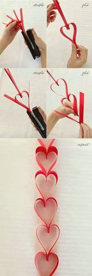 Flingers Party Shop Blog: How to Create a Valentines Heart Paper Garland - CUTE