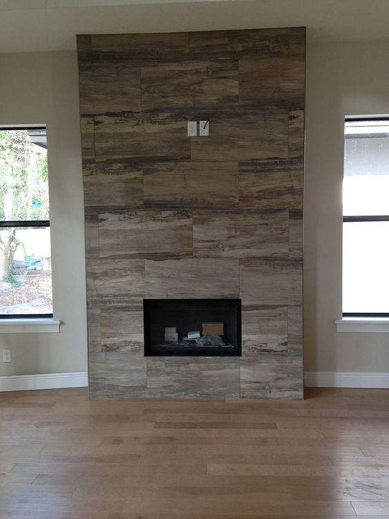Simple Fireplace Wall Design Ideas 30