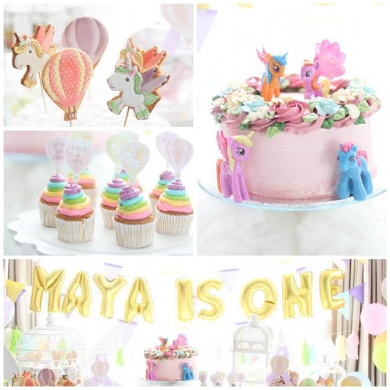 Hot Air Balloon + Unicorn Birthday Party via Kara's Party Ideas   KarasPartyIdeas.com (3)