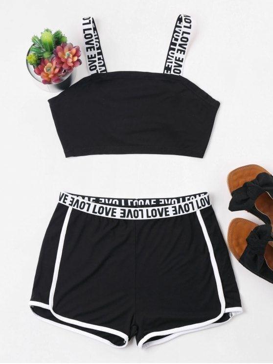 Conjunto Top E Short Preto Modafeminina Tumblr Comfy Outfits