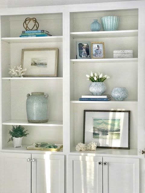 Before And After Bedroom Shelf Decor Living Room Built In Shelves Living Room Bookcase Decor Living room bookshelf decorating ideas