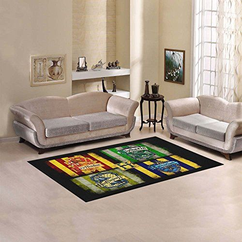 Qc Area Rug Harry Potter Hogwarts Houses Area Rug Size60 X 39