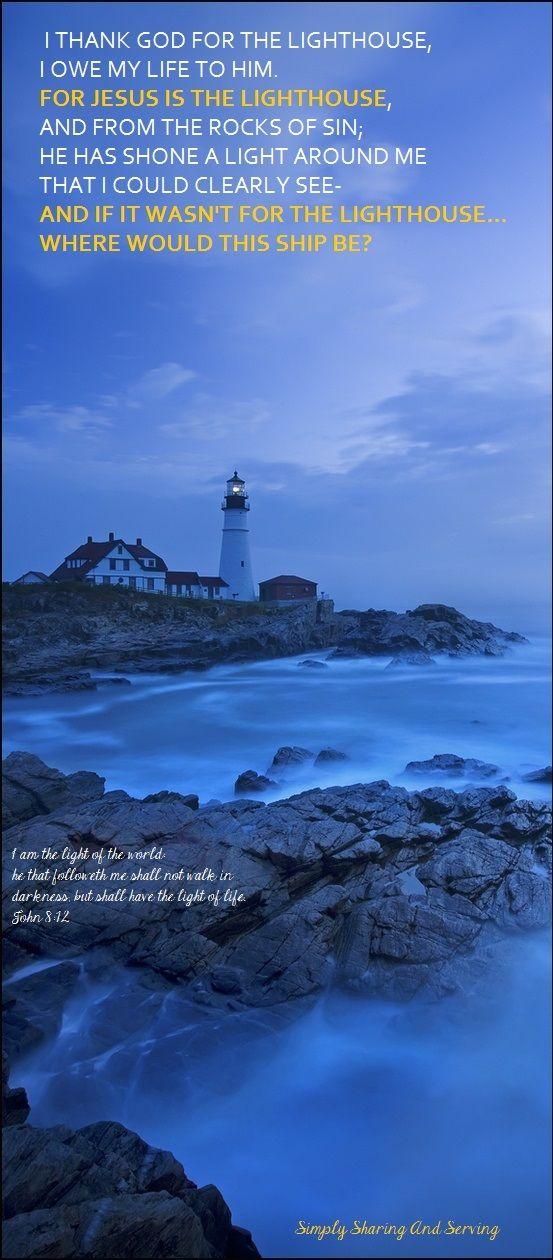 I thank god for the lighthouse lyrics