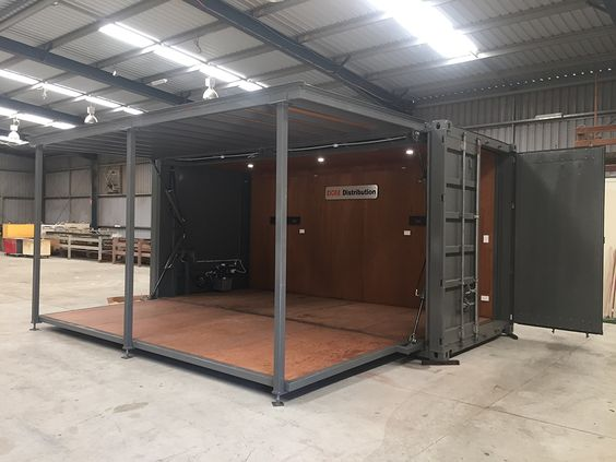 Welding Powder Coating And Sandblasting Specialty Shipping Containers Shipping Container Container Shop Building A Container Home